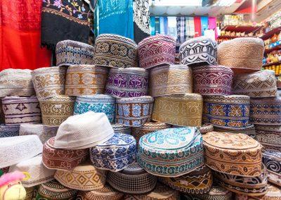 Omani Kuma hats at the Souq