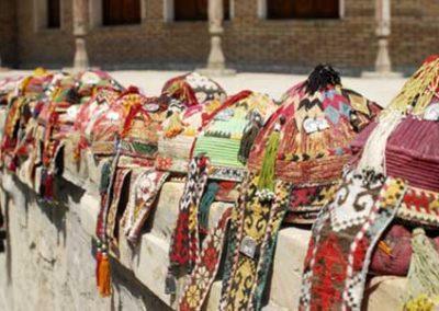 traditional Uzbekh hats